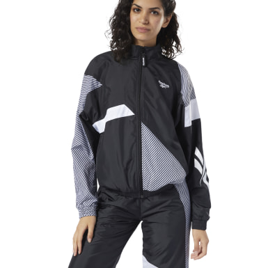 Chaqueta Classic Leather V Trackjacket Negro Mujer Classics