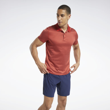 Workout Ready Striped Polo Shirt