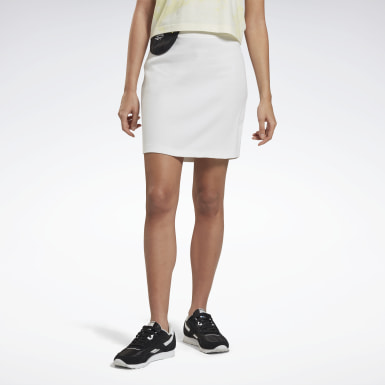 Kvinder Classics White Classics Tight Skirt