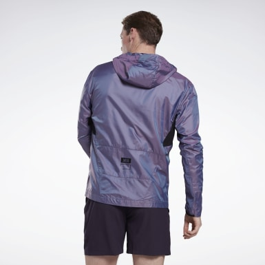 Men Trail Running Purple One Series Running Night Run Jacket