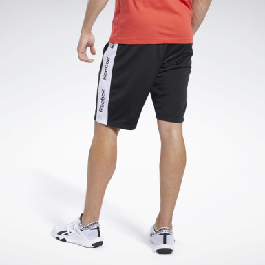 Shorts Training Essentials Linear Logo Negro Hombre Entrenamiento Funcional