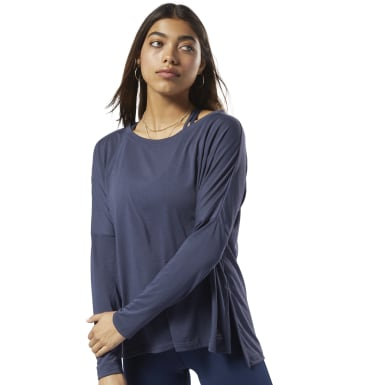 Women Training Blue WOR Supremium Long Sleeve Tee