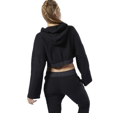 Women Studio Black LES MILLS® Lightweight Hoodie