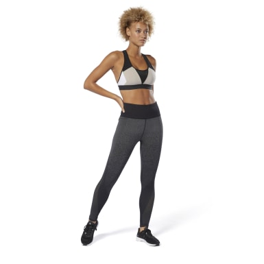 Women Training Black Seamless Vent Tights