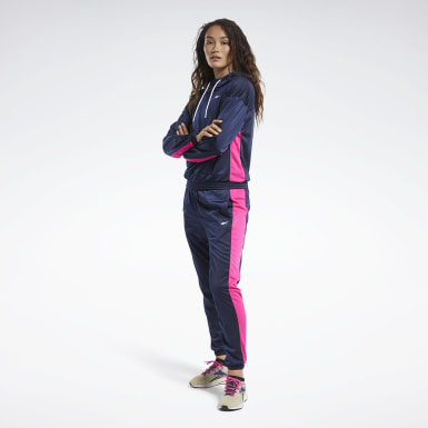 Tuta Linear Logo Hoodie Blu Donna Fitness & Training