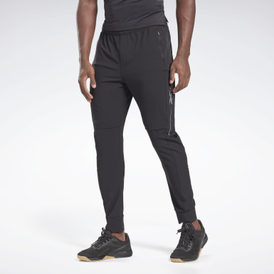 Men Training Black Performance Track Pants