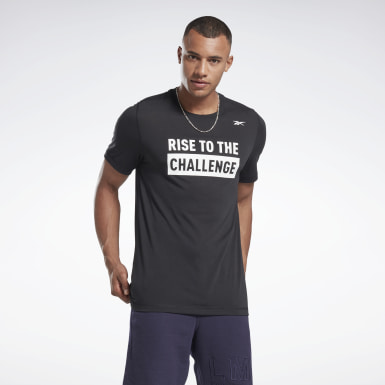 Men Studio Black LES MILLS® BODYCOMBAT® Graphic Tee
