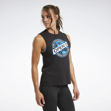 Women Training Black Reebok CrossFit® Open 2021 Tank Top