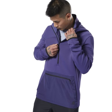 Men Fitness & Training Purple Thermowarm Deltapeak Control Hoodie