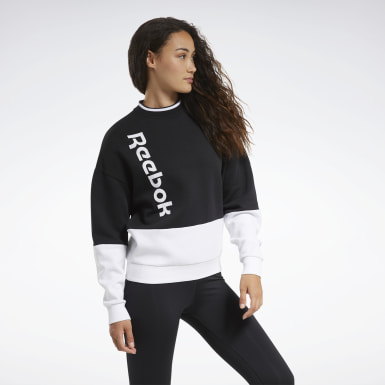 Women Fitness & Training Black Training Essentials Logo Crew Sweatshirt