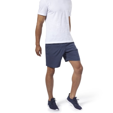 Shorts Te Woven Short Azul Hombre Fitness & Training