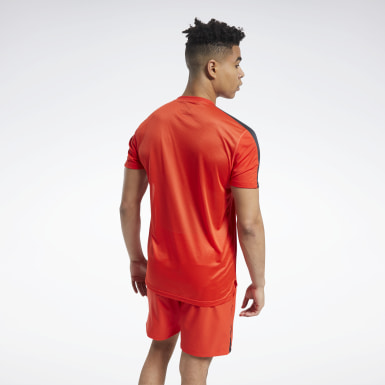 Men Training Red Workout Ready Tech Tee