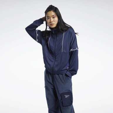 Women Classics Blue Classics Vector Tape Track Jacket
