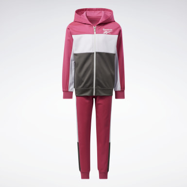 Girls Fitness & Training Pink Two-Piece Reebok Colorblock Set