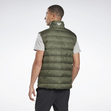 Men Outdoor Green Outerwear Puffa Vest