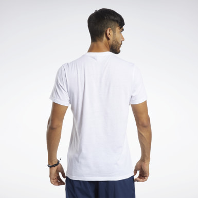 Männer Yoga Training Essentials Classic T-Shirt Weiß