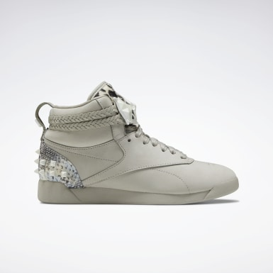 Women Classics Grey Freestyle Hi Shoes