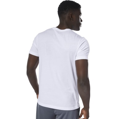 Men Training White Reebok Linear Read Tee