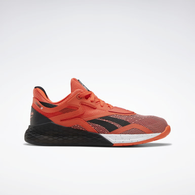 Men Cross Training Orange Reebok Nano X Shoes