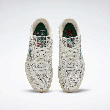 Classics White Tom and Jerry Club C 85 Shoes