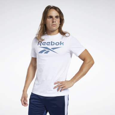 Camiseta Graphic Series Reebok Stacked Blanco Hombre Cross Training