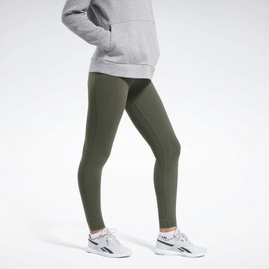 Women Training Green Reebok Lux High-Rise 2 Leggings