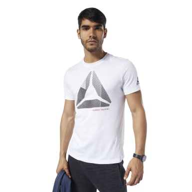 GS OST Shift Blur Tee Blanco Hombre Fitness & Training