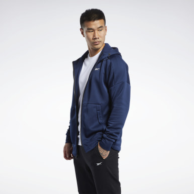Mænd Fitness & Training Blue United by Fitness Full-Zip Hoodie