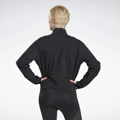 Women Terrengløping Black Running Essentials Wind Jacket