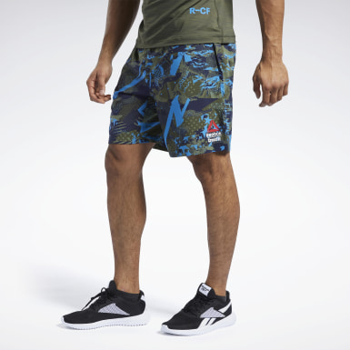 Männer Cross Training Reebok CrossFit® Games Austin II Allover Print Shorts Grün