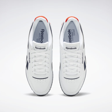 Men Classics White Reebok Royal Glide Ripple Clip Shoes
