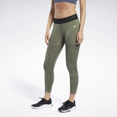 Women Fitness & Training Green United By Fitness MyoKnit 7/8 Length Leggings
