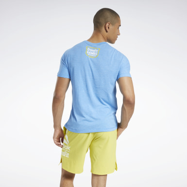 Men Fitness & Training Blue Reebok CrossFit® ACTIVCHILL+COTTON Tee