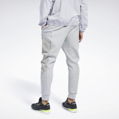 Men Training Grey Knit-Woven Jogger Pant