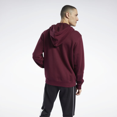 Men Classics Burgundy Classics Vector Full-Zip Hoodie