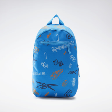 Børn Classics Blue Allover Print Backpack Small