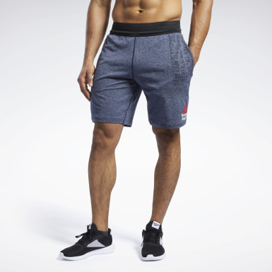 Men Training Blue Reebok CrossFit® MyoKnit Shorts