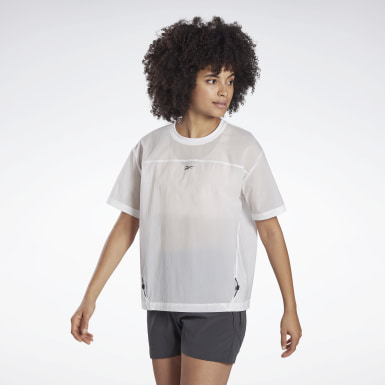 T-shirt en toile Night Run White Femmes Course