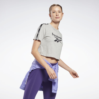 Women Dance Grey Training Essentials Tape Pack Tee