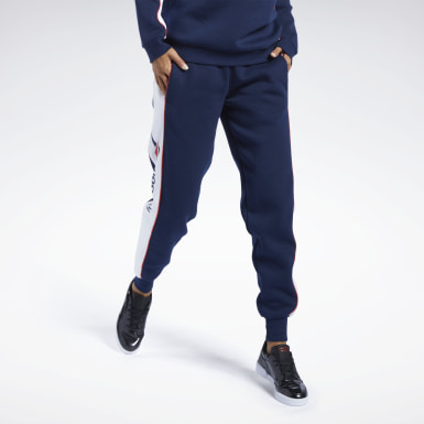 Women Classics Blue Classics Linear Fleece Pants