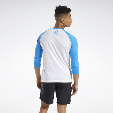 Men Training White Reebok CrossFit® FEF Raglan Tee