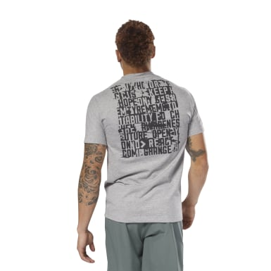Men Training Grey Speedwick Graphic MOVE Tee
