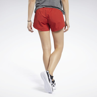 Women Pilates Red Workout Ready Shorts