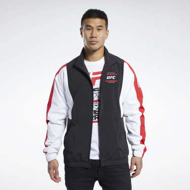 Men Fitness & Training Black UFC Fan Gear Capsule Jacket