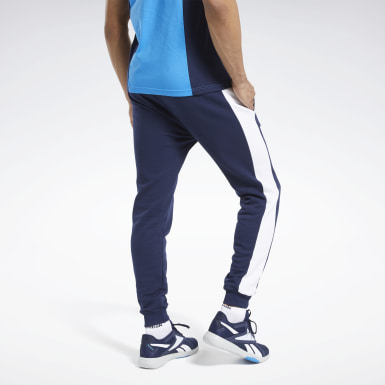 Men Training Blue Training Essentials Linear Logo Joggers