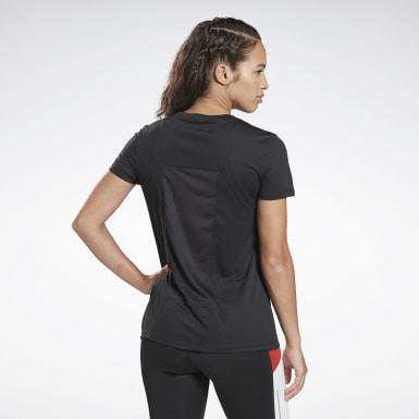 Remera Running Essentials Negro Mujer Running