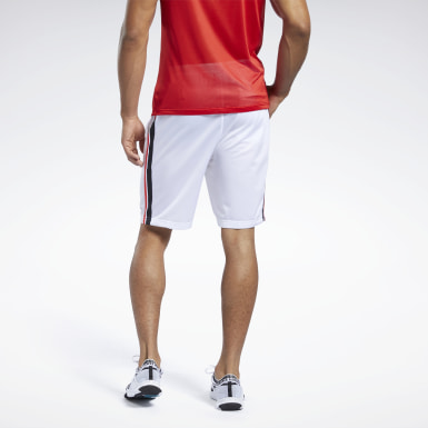 Men Fitness & Training White Workout Ready Shorts