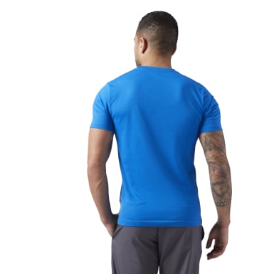 Remera Reebok Linear Read Azul Hombre Fitness & Training
