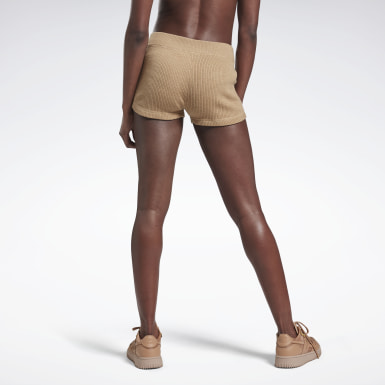 Shorty en maille VB Beige Femmes Fitness & Training