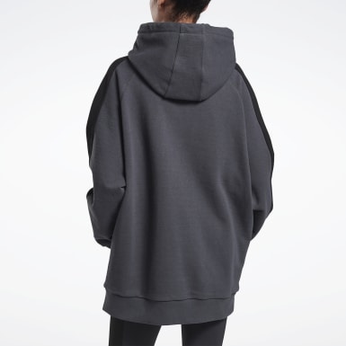 Women Fitness & Training Grey VB Oversize Hoodie